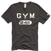 Gym 245 Graphic in Faded Black