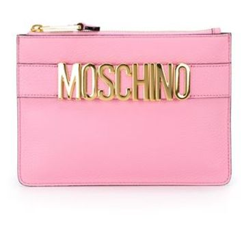 Moschino Logo Plaque Clutch - Capsule By Eso - Farfetch.com