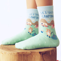 Let's Go Camping Socks (2 pairs)