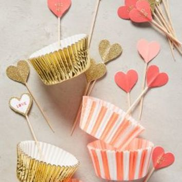 Valentine's Cupcake Kit by Anthropologie in Red Size: One Size Gifts