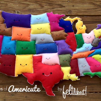 United States of America (Americute!) Wall-Hanging Map
