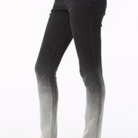 Olivia Dip-Dye Jegging in Black