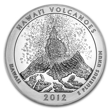 2012 5 oz Silver America the Beautiful Hawaii Volcanoes National Park, HI
