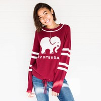 Varsity Red Intarsia Sweater