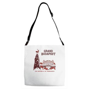 grand budapest hotel Adjustable Strap Totes
