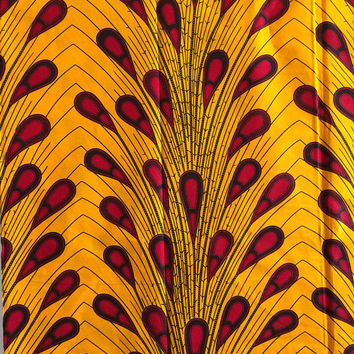 African print fabric sold by yard/ Ankara fabric/ Electric bulb ankara/ African Supplies for dress skirt/ Yellow African fabric/ dutch wax