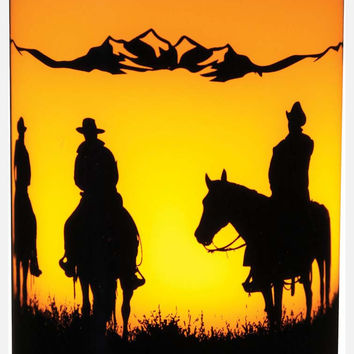 Cowboy Silhouette LED Candle