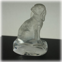 Goebel Crystal, Dog Figurine, Crystal Dog, Figural, Crystal Collection, Spaniel, Bird Dog, Hunting Dog