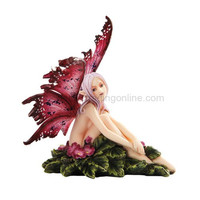 *New* 2013 Amy Brown Fantasy Wish You Were Here Faery Mushroom Fairy Statue Enchanted 6h Figurine