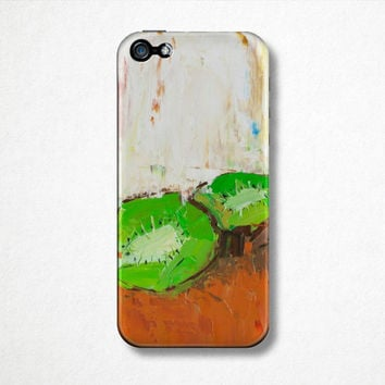 Kiwi Fruit Phone Case - iPhone Case - 4S - 5S - Samsung Galaxy - Plastic Hard Case - Oil Painting - Abstract Art