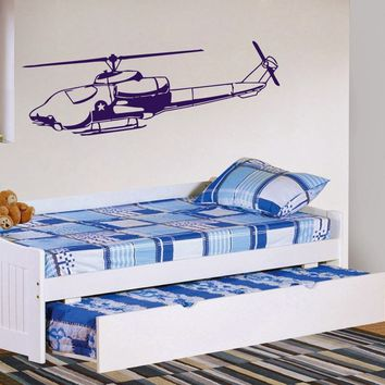 ik340 Wall Decal Sticker Decor sky helicopter military police commandos kids
