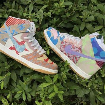 LMFH31 Nike SB What The Dunk High 918321-381 Size US5.5-11