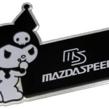 MAZDASPEED MS Mazda KUROMI Black White Aluminum Emblem Badge Nameplate Logo Decal Rare Hello Kitty JDM for Mazda Protege Miata MX5 MX6 RX7 RX8 Mazda 3 6 R3 626 CX7 CX9 M2 M3 M5 MPV