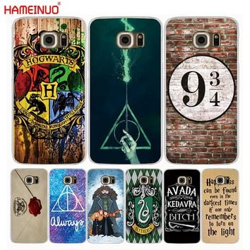 HAMEINUO harry potter howgwarts always slytherin cell phone case cover for Samsung Galaxy S9 S7 edge PLUS S8 S6 S5 S4 S3 MINI