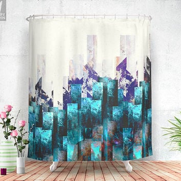 Cold cities Shower curtain
