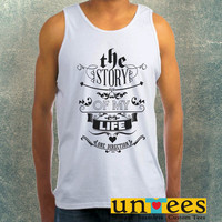 1D Story of My Life Lyric Clothing Tank Top For Mens