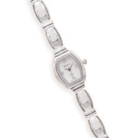 7in + .5inExtension Polished and Oxidized Bead Edge Fashion Watch