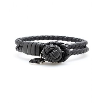 bottega veneta - knot woven leather bracelet