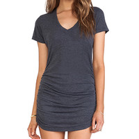 Saint Grace Cap Sleeve Dress in Gray