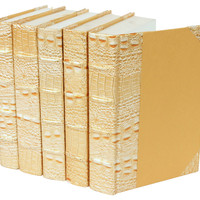 Exotics Collection, Crocodile Gold, Set of 5, Decorative Books & Bindings