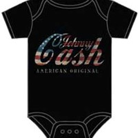 Johnny Cash American Logo Black One Piece