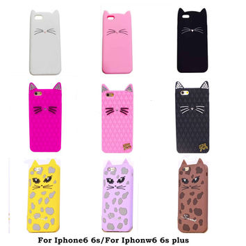 2016 Cartoon diamond crystal glitter Katy Perry kitty purry leopard/candy color cat soft silicone case For iphone6 6s/6 6s plus