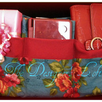Purse Organizer Insert Handbag Ready to Ship Red