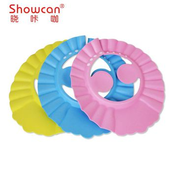 new Baby Kids Shampoo Cap thicker Adjustable EVA Foam Bath Shower Cap Hat water Wash Hair Shield take a shower protect