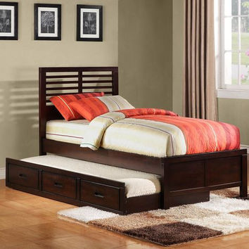 Paula II Twin Captain Bed With Trundle