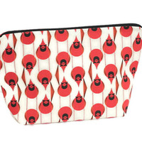 Charley Harper Zipper Pouch, Knitting Project bag, Crochet Project Bag, zippered pouch, cos