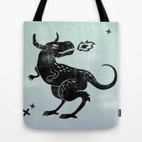 Fire monster Tote Bag by Anna Volkova