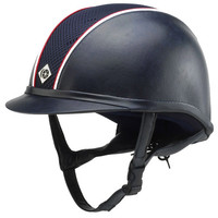 Charles Owen AYR8 Leather-Look Helmet with Custom Piping** | Dover Saddlery
