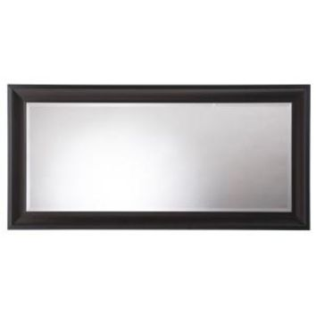 Martha Stewart Living, Champlain 66 in. x 32 in. Black Coffee Framed Leaner Mirror, 71906 at The Home Depot - Mobile