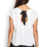 Bow-Tie Cutout Top