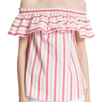 kate spade new york off the shoulder stripe top | Nordstrom