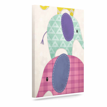"Noonday Design ""Balancing Act "" Multicolor Kids Canvas Art"