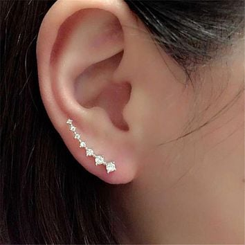 Women Stud Earrings Ear Climbers