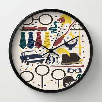 Harry Potter Wall Clock by AbbieImagine | Society6