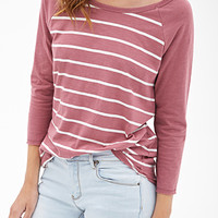 Striped Knit Raglan Tee