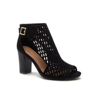Cut It Out Booties, Black