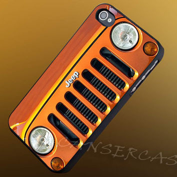 Jeep Wrangler Orange - iPhone 4/4s/5c/5s/5 Case - Samsung Galaxy S3/S4 Case - Black or White