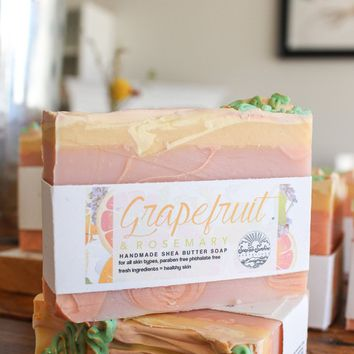 Grapefruit & Rosemary - Handcrafted Soap Bar