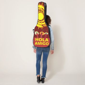 Chili Peppers Hola Amigo funny customizable Guitar Case