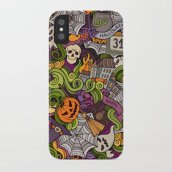 Halloween iPhone Case by Printerium
