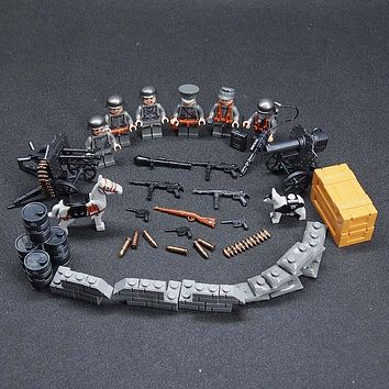 WW2 Military Weapon Army Guns Building Blocks Brick Military Model Set DIY compatible legoes lepined toys for children gift