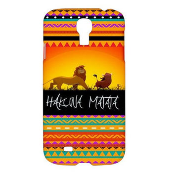 The Lion King Hakuna Matata Aztech Samsung Galaxy S4 IV I9500 Hard Case Cover