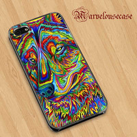 Psychedelic Wolf Custom case for all phone case