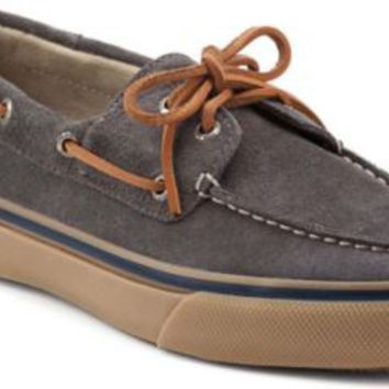 Sperry Top-Sider Bahama Suede 2-Eye Boat Shoe GraySuede, Size 7.5M  Men's Shoes