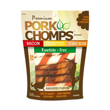 Premium Pork Chomps Twistz - Assorted Flavors
