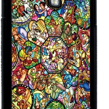Disney All Characters Stained Glass Samsung Galaxy S4 Rubber Case